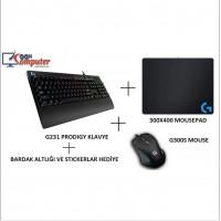 LOGITECH G300s Mouse+Mousepad+G213 Klavye SET